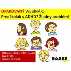 Předškolák s ADHD? Žádný problém!| Lektorka webináře: Mgr. Zuzana Kuncová
