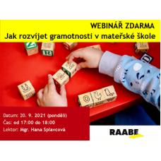 Jak rozvíjet gramotnosti v mateřské škole | Lektorka webináře: Mgr. Hana Splavcová