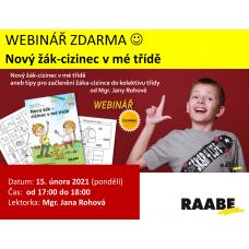 Nový žák-cizinec v mé třídě | Lektorka webináře: Mgr. Jana Rohová