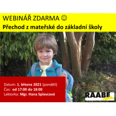 Přechod z mateřské do základní školy | Lektorka webináře: Mgr. Hana Splavcová