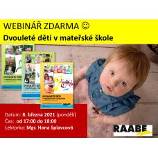 Dvouleté děti v mateřské škole | Lektorka webináře: Mgr. Hana Splavcová