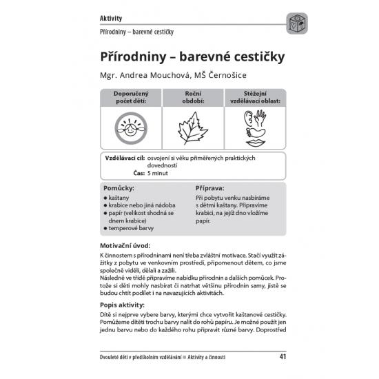 Dvouleté děti v předškolním vzdělávání III - aktivity a činnosti