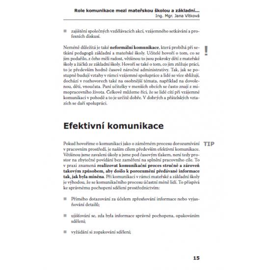 Školní zralost a komunikace v MŠ