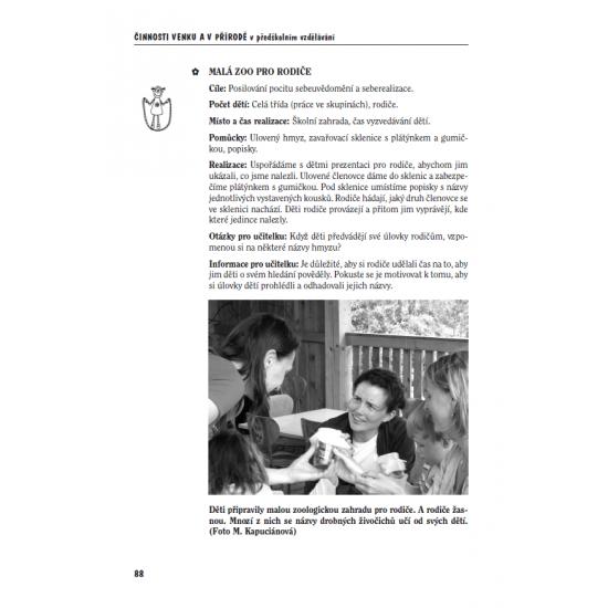 Činnosti venku a v přírodě  v předškolním vzdělávání