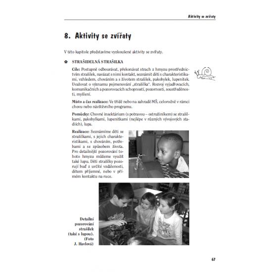Činnosti se zvířaty v předškolním vzdělávání