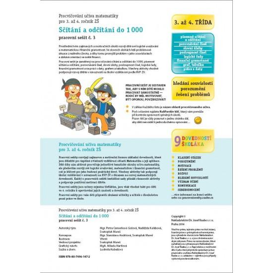 Pracovní sešit Sčítání a odčítání do 1000