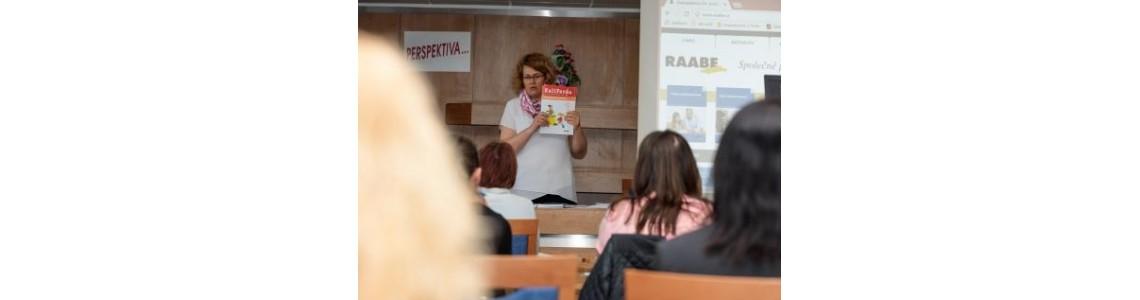Nakladatelství Raabe na jaře pořádalo semináře pro učitele mateřských a středních odborných škol