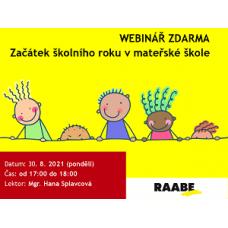 Začátek školního roku v mateřské škole | Lektorka webináře: Mgr. Hana Splavcová
